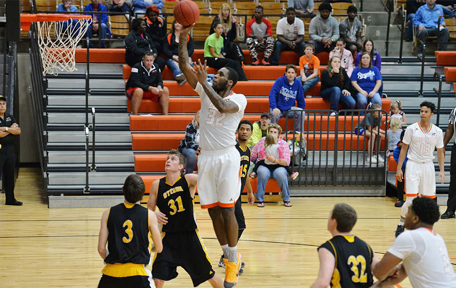 Neosho player shooting a basketball