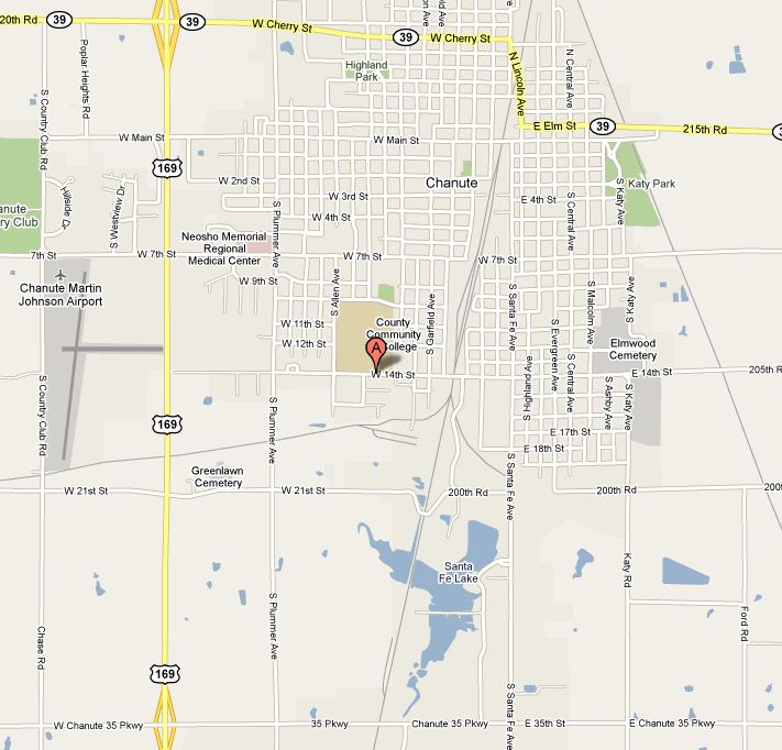 nccc chanute local street map