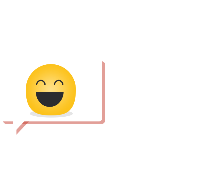chat bubble with smiley face